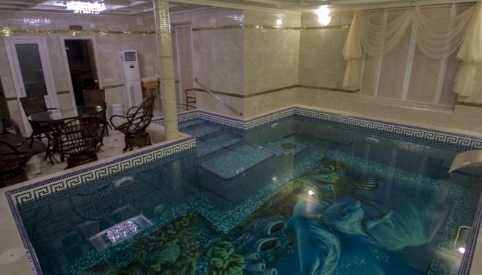 Дровяная баня и бассейн в Марьино