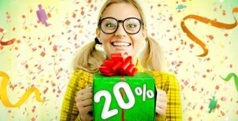 Ваш День Рождения со скидкой 20%!