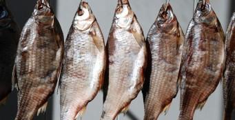 Местная сушеная рыба