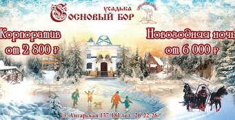 """Встречайте Новый Год вместе с усадьбой """"Сосновый Бор""""!"""