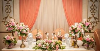 Украшение стола жениха и невесты в подарок!