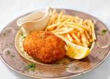 Куриный шницель с картофелем фри