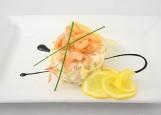 Сырный салат с семгой
