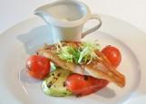 Морской окунь с овощами-гриль