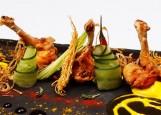 Шри-Ланка - куриные крышки с шафрановым соусом